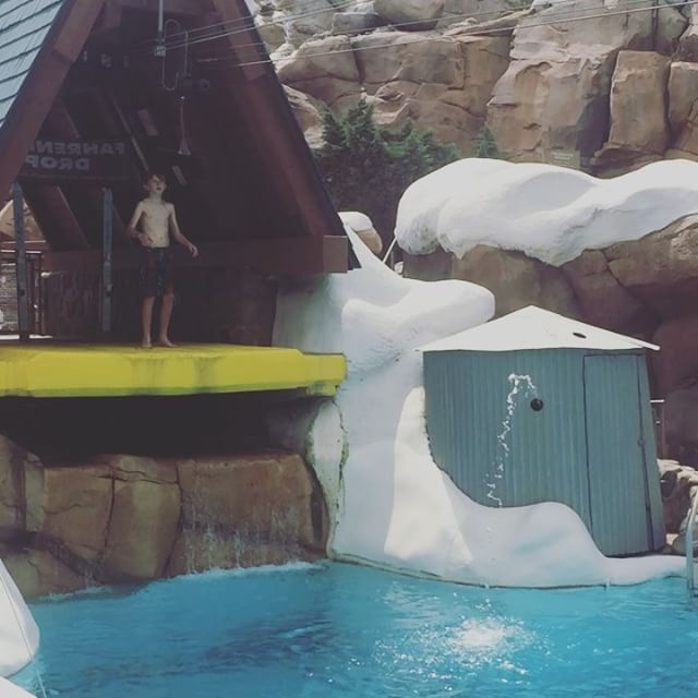 Water park fun today, at least for the kids anyway. Water parks are not my thing