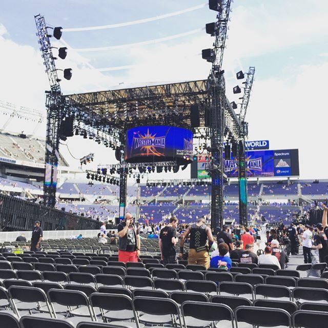 Amazing seats for Wrestlemania 33. Bucket list stuff for sure