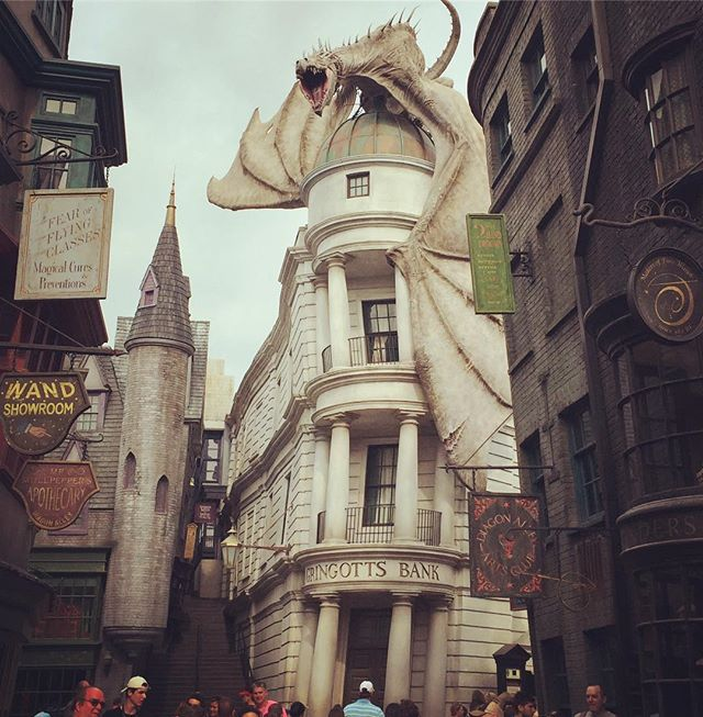 Just heading in to Gringotts to make a deposit