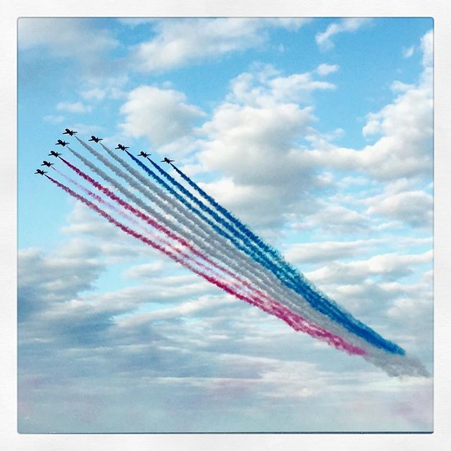 Fun day at the Herne Bay airshow today. Red arrows were amazing