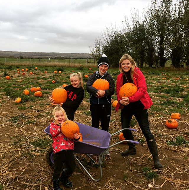 Fincher family pumpkin picking