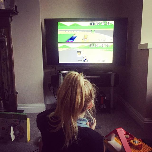 The SNES mini is a huge hit in the Fincher household. Leila is equally obsessed with Mario World as Jacob is with Street Fighter (I know this is Mario Kart before anyone starts)