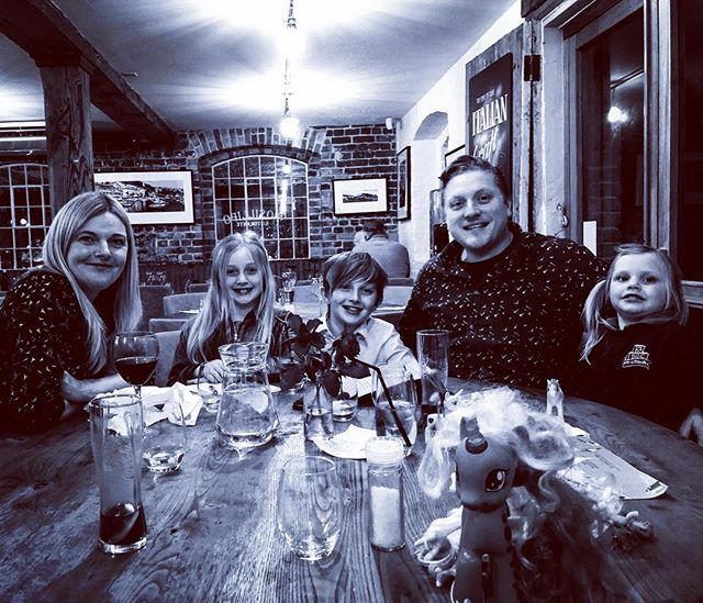 Birthday dinner with the family. I am particularly lucky to have this lot